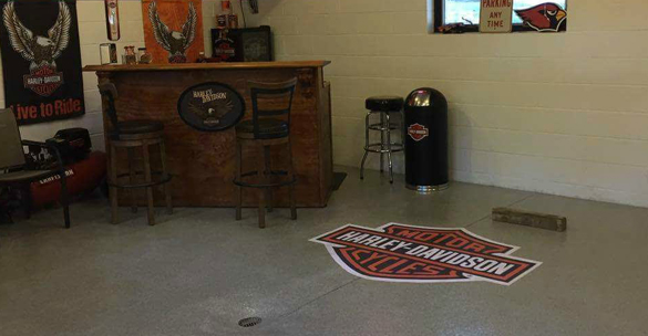 Garage Epoxy With Logo