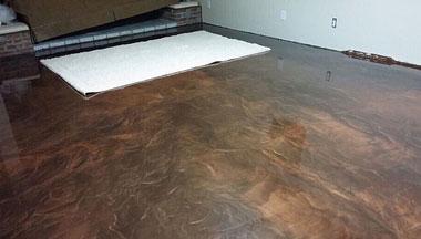 Boise Basement concrete floor epoxy