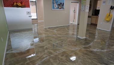 Boise Pure Metallic Epoxy Floor
