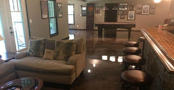 Metallic epoxy resin floor Boise Idaho
