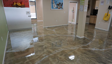 Boise Pure Metallic Epoxy Floor